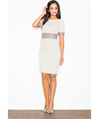 FIGL Béžové puzdrové šaty - M204 3d5b6ec80f7