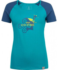 Dámske bavlnené tričko KILPI APPLE-W Tyrkysová 0838c3c47b2