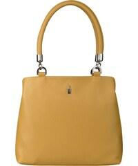5c05a31e2b Elegantná kožená kabelka veľká cez rameno žltá Wojewodzic 31769