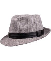 06ab1a426a6 Šedý pánský klobouk Harris Tweed károvaný Assante 85094