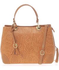 ItalY Originálna dámska kožená kabelka svetlo hnedá - Italo Mattie hnedá c608baadfeb