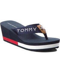 Žabky TOMMY HILFIGER - Corporate Beach Sandal FW0FW02958 Midnight 403 ce1eba51ddd