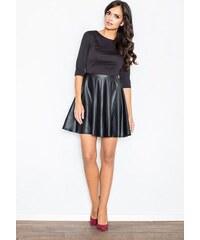 d2e161d73a26 FIGL Kombinované čierne šaty - M162