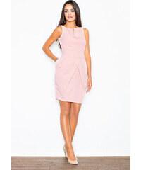 4a203a8661fe FIGL Ružové puzdrové šaty nad kolená M243