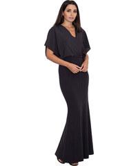 FIGL Elegantné čierne dlhé šaty M577 536932253a2