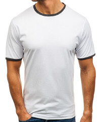 Bílé pánské tričko bez potisku Bolf 6310 58caa266d0