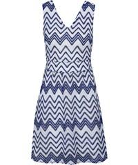 Modré vzorované šaty s opaskom Mela London da6043747e3