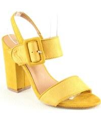 Pour Promotion Et En Chaussures Vêtements Jaune Femmes wfq6t6
