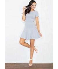 4b7e339b85b7 FIGL Šedé šaty s voľne strihanou sukňou M363