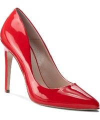 Červené kožené dámské boty prémiových značek - Glami.cz 7e7b095276