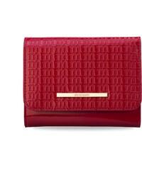 dad6521d059a Lakovaná dámská peněženka monnari s ražbou loga značky malá portmonka -  červená