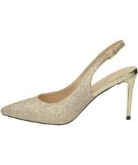 9d2796199234 Menbur dámske spoločenské trblietavé sandále - zlaté