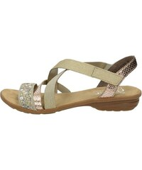 Rieker dámske elegantné sandále na suchý zips - béžové 253699227e4