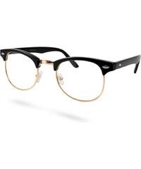 EverShade Fekete arany retró szemüveg tiszta lencsével 90284e791f
