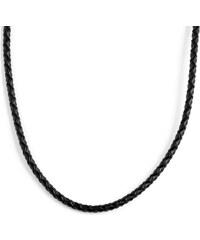 Collin Rowe 3 mm Černý zaplétaný kožený náhrdelník 309b86d83a1