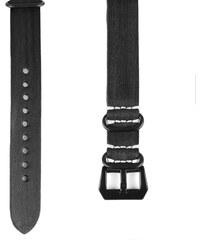 Trendhim Kožený remienok na hodinky v čiernej a bielej farbe 40343add4c9