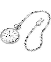 Dane Dapper Vreckové hodinky v strieborných tónoch s bielym číselníkom Time  Keeper 3560f2740ff
