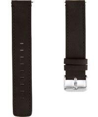 Lucleon Čierny a strieborný remienok na hodinky s čiernym prešívaním 8589e21d19c