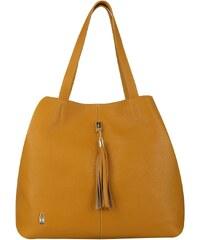 Wojewodzic kožená luxusná kabelka cez plece žltá 31611 d471322dc51