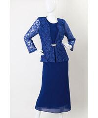 Glamor Večerní šatový kostým pro plnoštíhlé 2196ad6fc05
