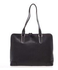 Luxusní dámská kožená aktovka černá - Gerard Henon Sivara černá 42a95cd6bf
