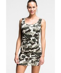 b743178139e SHOPHYL Maskáčové Dámské šaty Army Dress