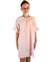 MADE IN ITALY Dámské italské letní plátěné šaty růžové 99 S418 f3fa569a6c