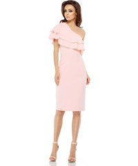 482eedbbfd21 Letní šaty s na jedno rameno Lemoniade L254 růžové