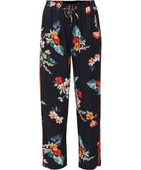 e5948e4eaf2 Tmavě modré květované kalhoty s vysokým pasem Dorothy Perkins