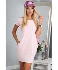 0ca4af380d8 Růžové letní jednobarevné šaty - Glami.cz