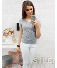 0d010e58b203 Brand Dámske tričko BASIC (ry0314) - sivé ry0314
