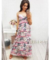 Brand Dámske ružové šaty KARIMA MAXI (ey0378) ey0378 d4a1d94268