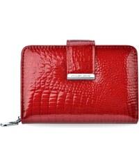 aad7146ffd870 Kožená dámská peněženka jennifer jones lakovaná portmonka - červená