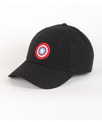 Šiltovka Vans WM (Marvel) Captain America Shield Courtside Hat Black 163f4075bfa