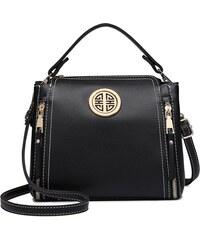Lulu Bags (Anglie) Malá černá dámská moderní kabelka Miss Lulu 0bb3df1b1b