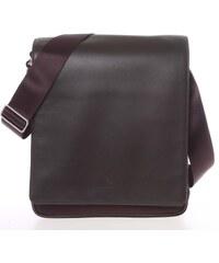 Stylová pánska kožená taška přes rameno hnědá - Gerard Henon Mikol hnědá e7425b1c26