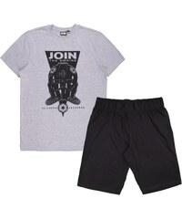 Egyéb márka Join the Empire szürke-fekete férfi pizsama 890ae12e1f