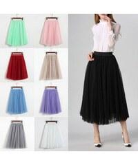 485267af622 V V Dámská tylová tutu sukně - dlouhá (fialová barva)