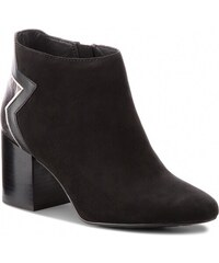 Polokozačky TOMMY HILFIGER - Elevated Suede Heeled Bootie FW0FW02939 Black  990 3c18bd4719