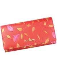 Dámská kožená peněženka Pierre Cardin Plant - červená b150f969979
