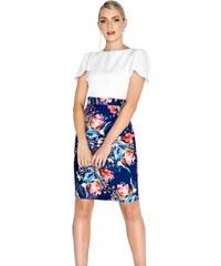 LITTLE MISTRESS Tulip šaty s barevnou sukní a jednobarevným topem f21ea55692