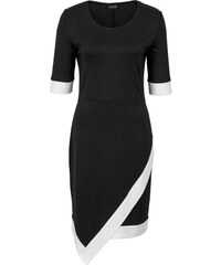 5350cd30e3b5 Bonprix Úpletové šaty s kontrastnou farbou