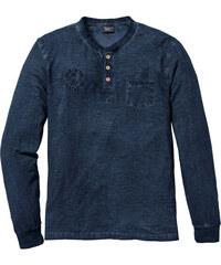 0e5e0dcf4eea Tmavo modré Pánske tričká s dlhým rukávom