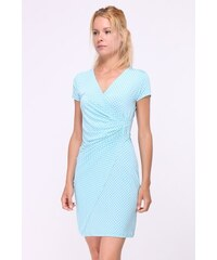 2728f8e655c REVDELLE Letní puntíkaté šaty CAMILLES TYRKYS