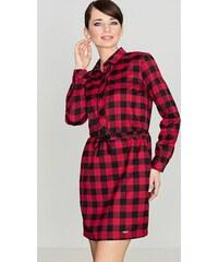 LENITIF Dámske kockované červeno-čierne šaty K256 f0d6049327d