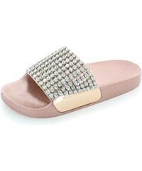 31604c4bd412 Ideal Rózsaszín arany papucs Daria