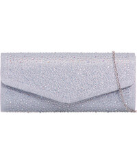 ikabelky Flitrová spoločenská kabelka K-L941 strieborná f52e5d1f4f6