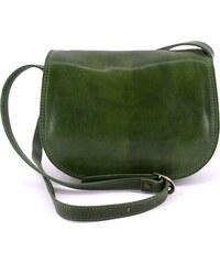 cef210705c Dámská kožená kabelka crossbody (lovecká) Arteddy - zelená