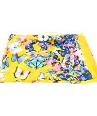 f68272a9519 Dámský šátek se vzorem motýli Arteddy - žlutá