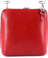 Červená kožená crossbody kabelka s detaily ve zlaté barvě DKNY ... aaf96de12d